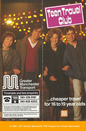 Teen Travel Club leaflet cover (1984)