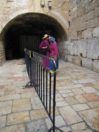 Partition at the Kotel ha-katan