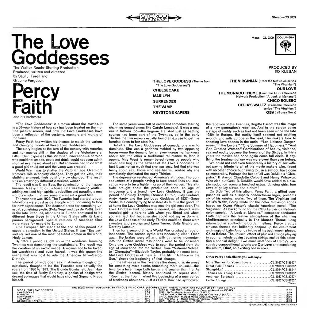 Percy Faith - The Love Goddesses