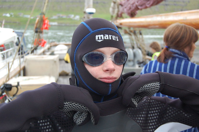 Young swimmer ready for the Jóansøkusvimjing 2011
