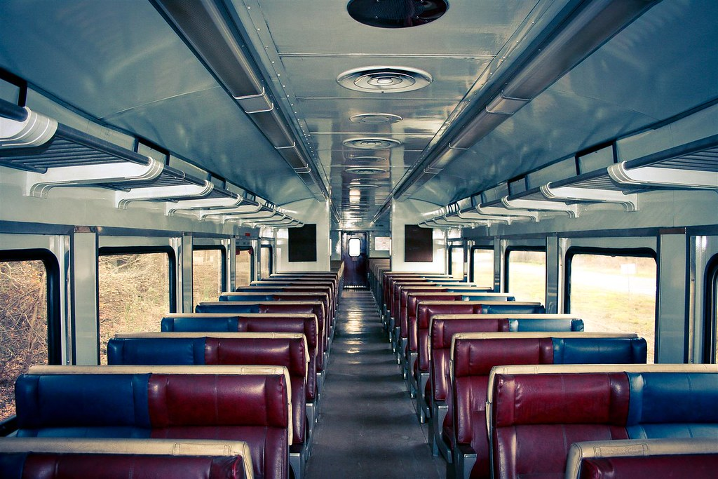 Beautiful interior to a self propelled coach car