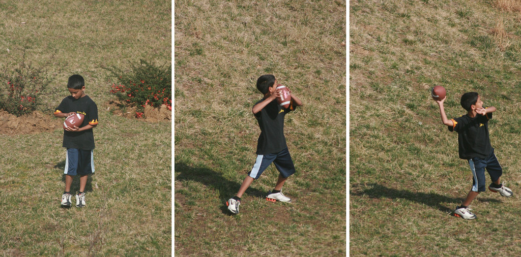 Throwing Football  To Dad