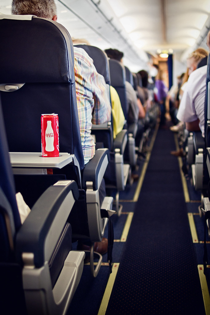 CocaCola on a plane