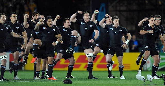 The All Blacks perform the Haka 16/10/2011