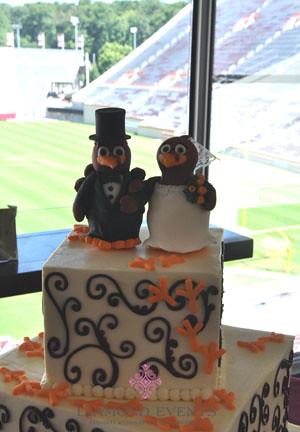 Hokie Bird Bride & Groom Cake Topper