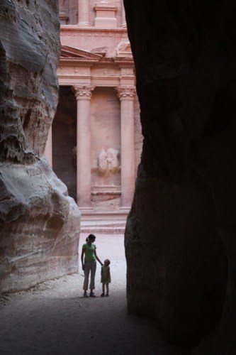 Katherine and Claire at Petra