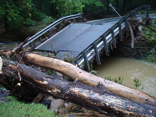 Road flooding damage from September 2011