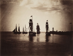 Boats Leaving Le Havre, Sunset, c.1856-7, by Gustave Le Gray