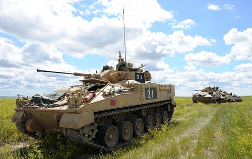 Warrior Infantry Fighting Vehicle on Exercise ...