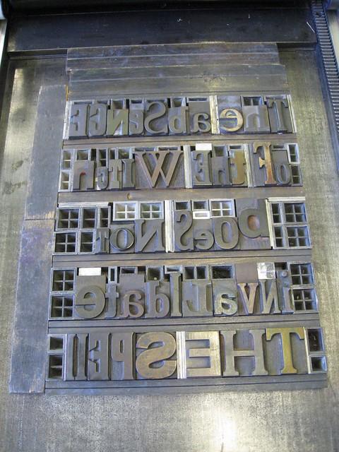 Wood Type on Vandercook Press