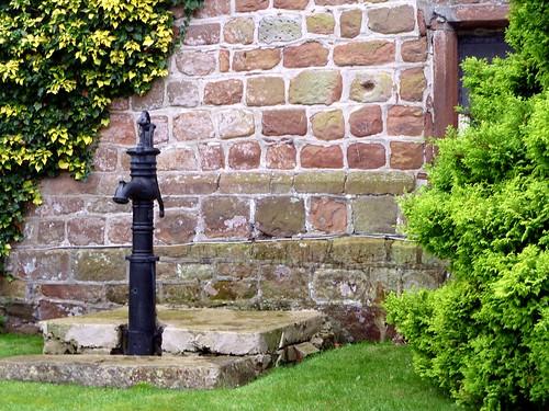 The plinth course on Drumburgh Castle