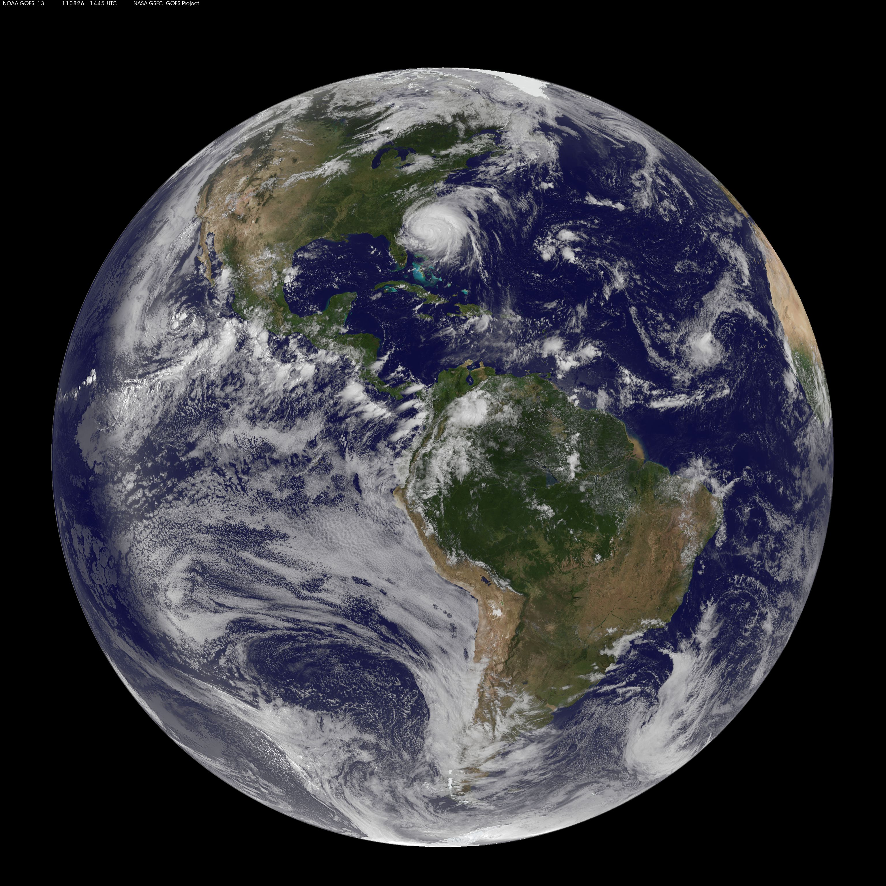 Full Disk Image Of Earth Captured August 26