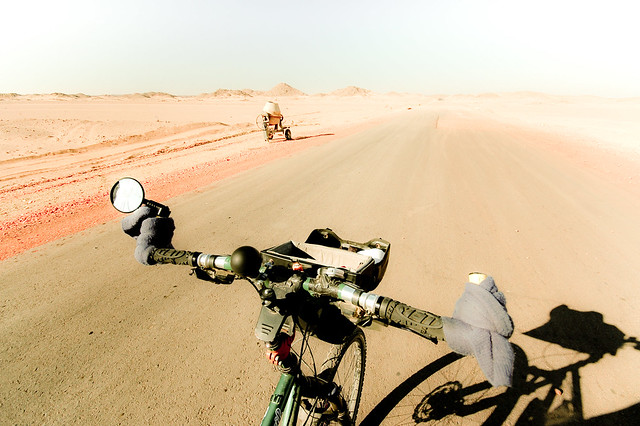 Unfinished road in the Nubian desert, Sudan