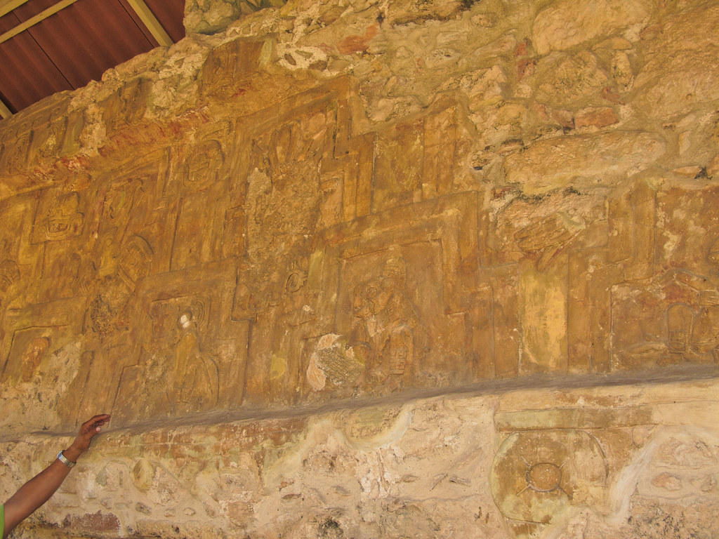 """A stucco in the """"Palace of the Stuccos"""" in Acanceh"""