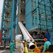 Techs Lift a solid rocet motor to the Delta II