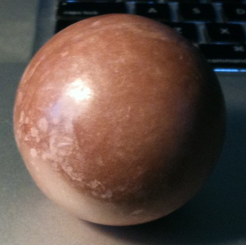 Clay Sphere polished using dorodango methods