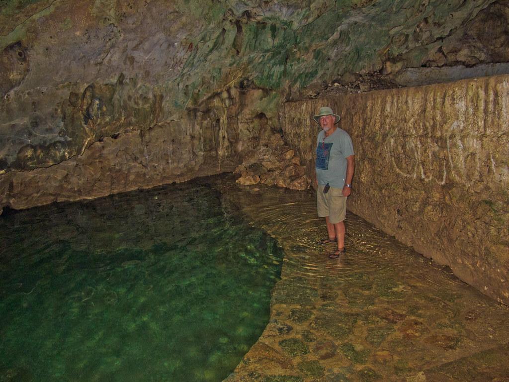 Me in the cenote in Telchaquillo