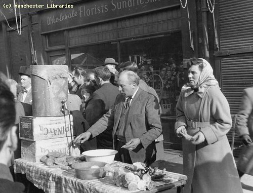Shude Hill Market, Manchester, March 1958
