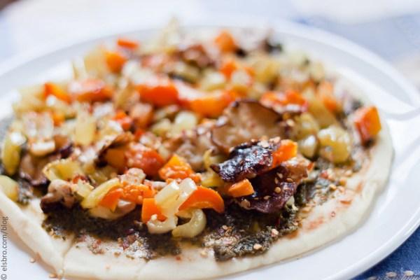 Mushroom & Peppers Flatbread