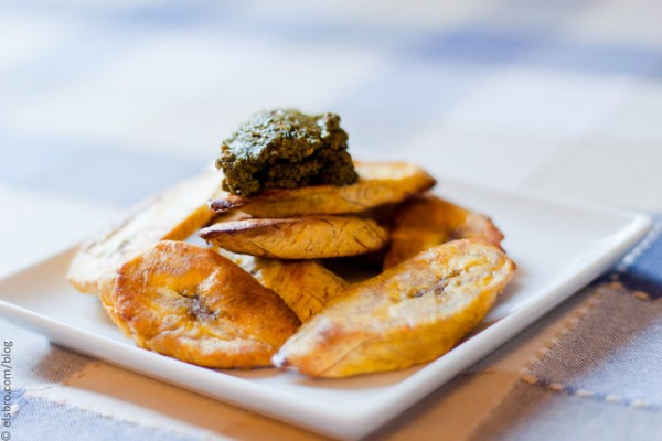 227/365 Roasted Plantains w/ Pesto #mostly365