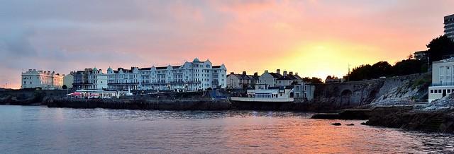Plymouth Hoe Sunset Panorama. Nikon D3100. .DSC_0346