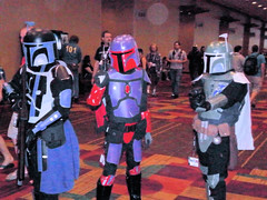 Multiple versions of Boba Fett at GENCON 2011