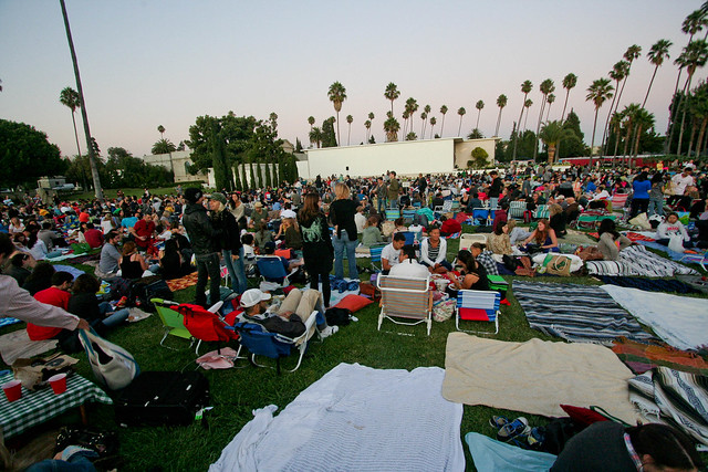 Movie in Hollywood Forever Cemetary