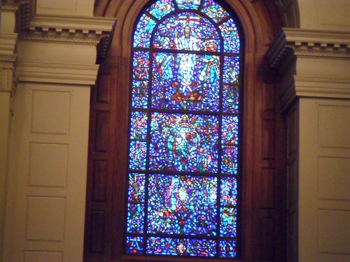 Stained glass in the sanctuary
