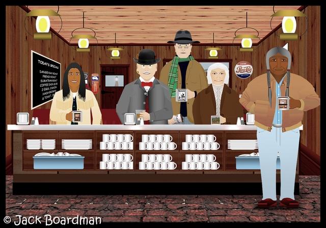Erik arrived in Silverthorn's Café ©2011 Jack Boardman