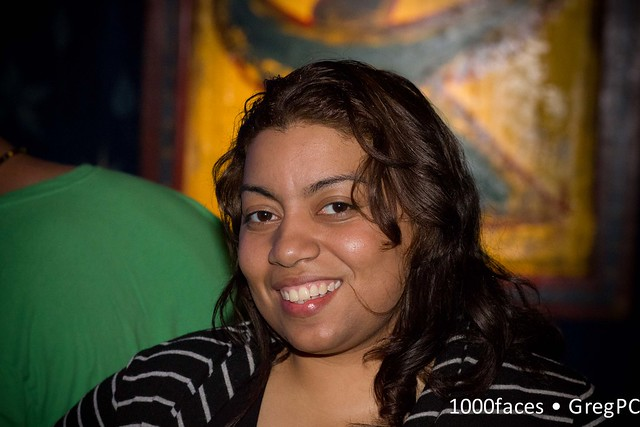 Face - smiling woman at Stephen Marley show