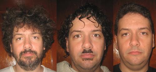 20110709 - Clint - Car0lyn cut my hair - IMG_3140-3141-3142 (triptych)
