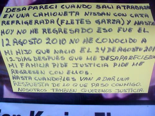 Kristian Karim Flores Huerta. Desaparición forzada. by la nave de los locos