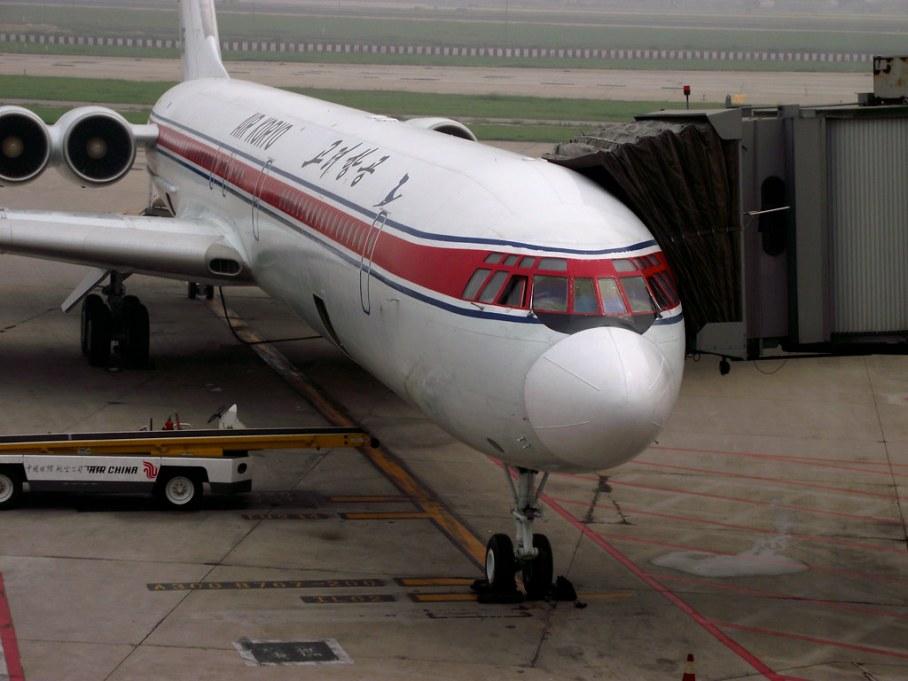 Air Koryo II-62 P-885 at Beijing Capital Airport, China