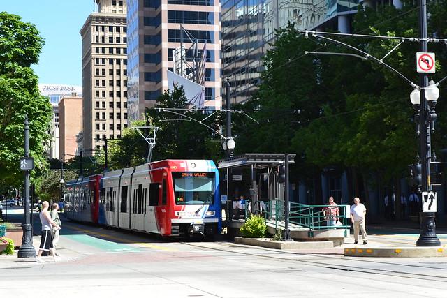 Green Line Trax at Gallivan Plaza