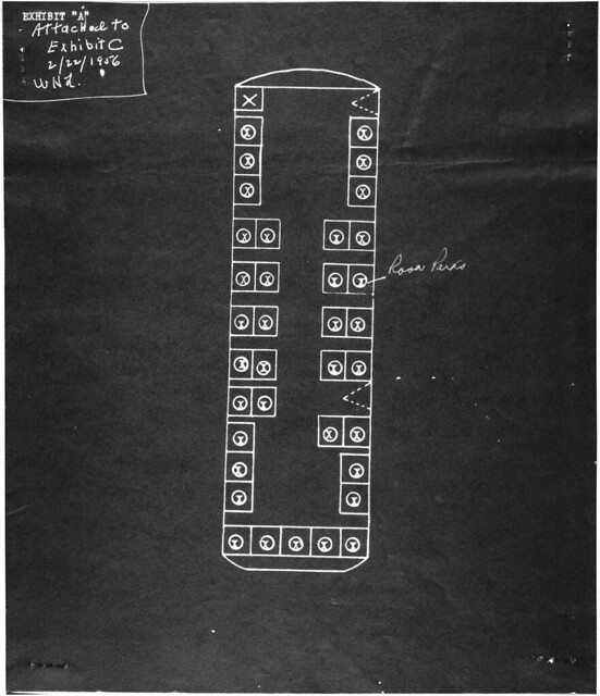 Diagram of the Bus Showing Where Rosa Parks Was Seated