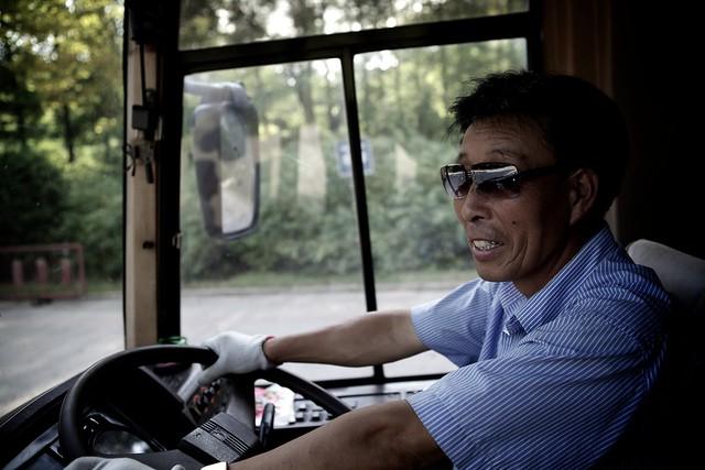 Our faithful bus driver Mister Che