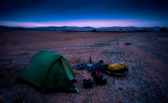 First wild camp in northern Jordan