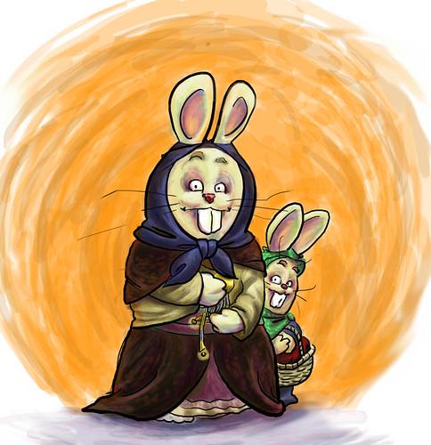 staring bunnies by Wild Guru Larry