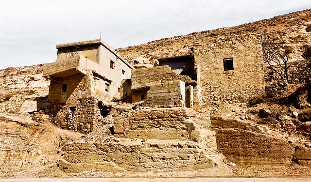 Rock buildings in Jordanian wadi
