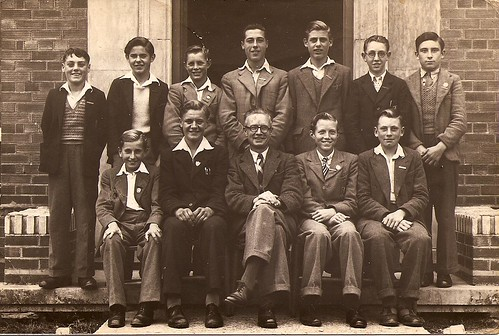 Unidentified group photo including Gordon Dewey by familytreeuk