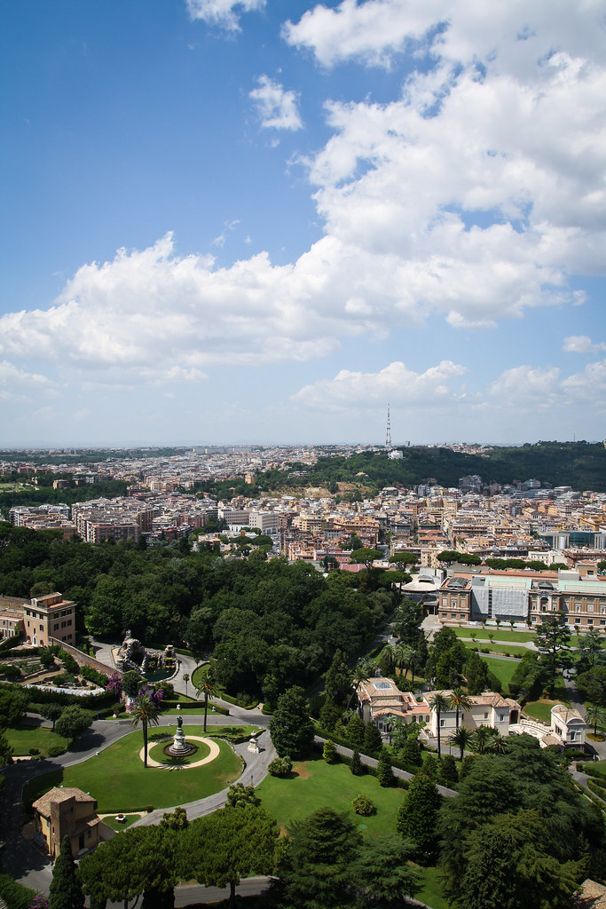 view from the dome of st peter's basilica, vatican city