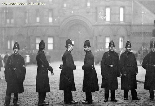 Police Outside Strangeways Prison, 1900