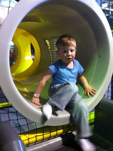 At the indoor playground aka kid crack