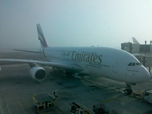 Business Class on the Emirates A380 Back to the US (Trip