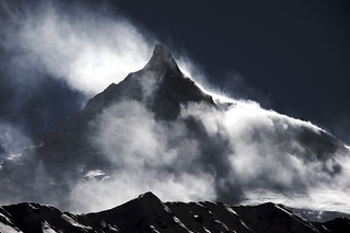 Manaslu  (8156 m) from Base Camp