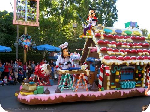 Carro alegórico en Disneylandia