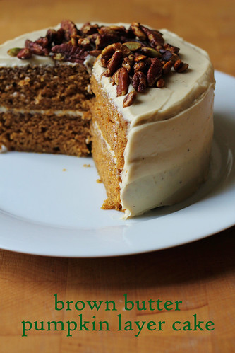 brown butter pumpkin layer cake
