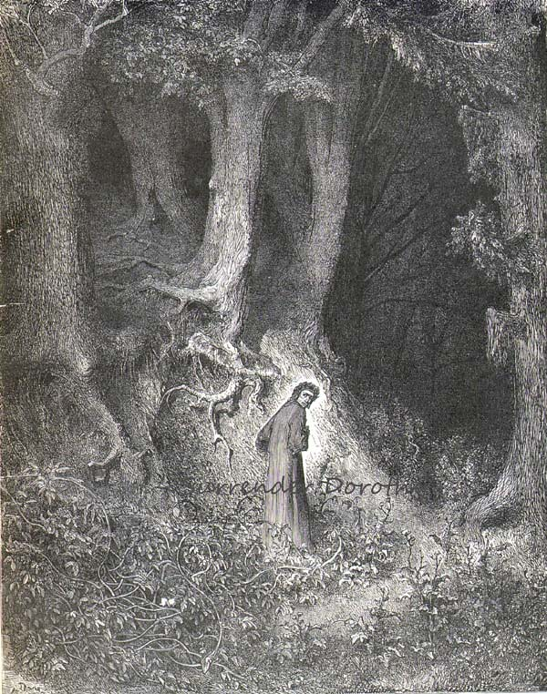 Inferno, Canto 1 Dante in the savage wood