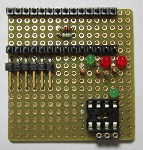 assembling ATtiny programmer on prototype board