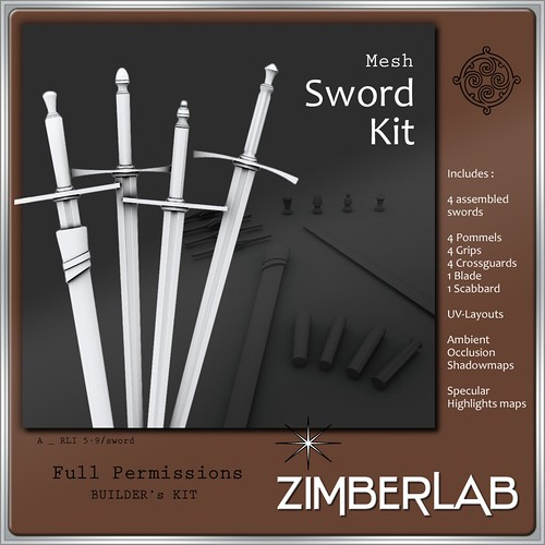 Sword A builders kit MESH by ZimberLab @ The Deck